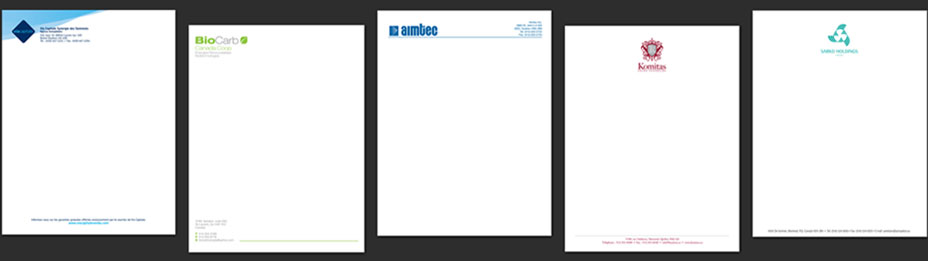 Letterheads triainc printing montreal letterheads spiritdancerdesigns Choice Image